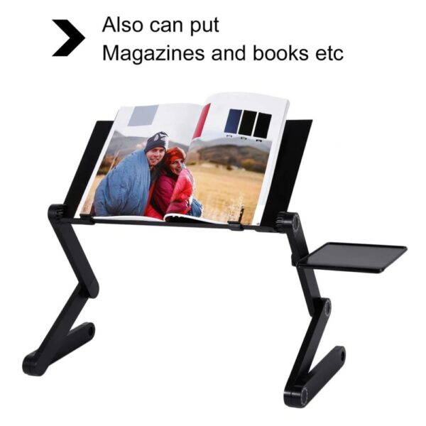 Laptop Stand - Black With Magazine