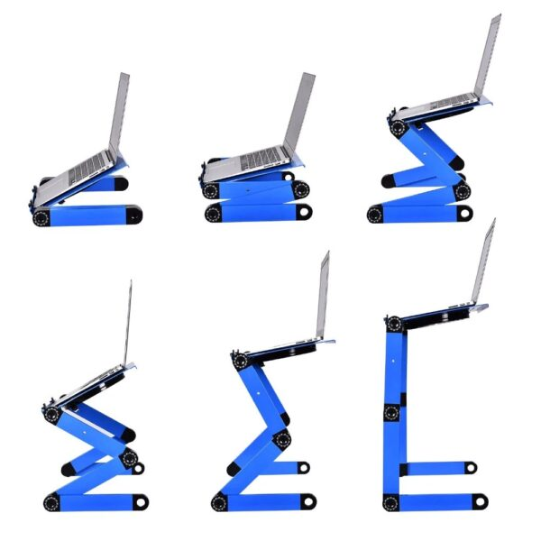 Laptop Stand - Blue Positions