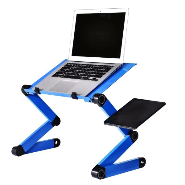 Laptop Stand - Blue With Laptop