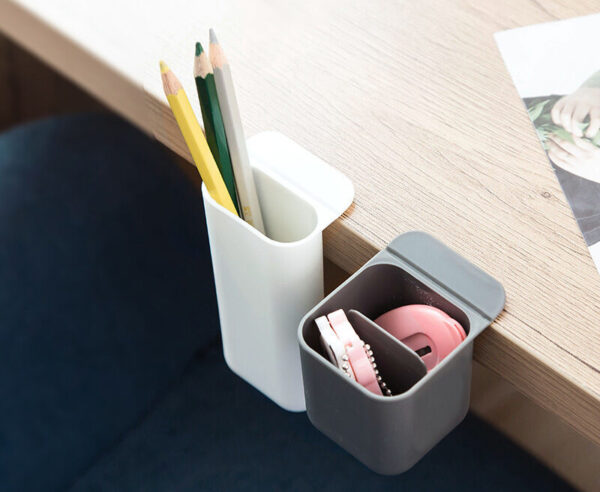 self adhesive pen and stationery holder for desk
