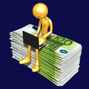 sitting on money