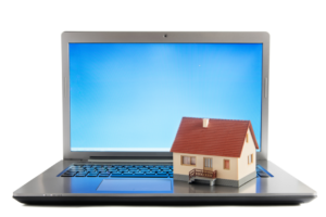 small house on laptop