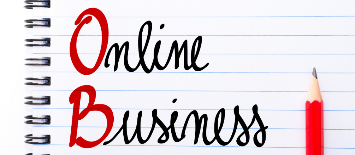 online business written on white pager
